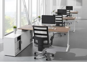 Büro-Komplettarbeitsplatz modern und preiswert