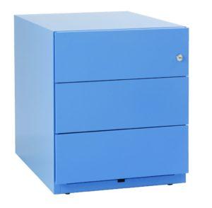 robuster Schreibtisch-Rollcontainer aus Stahl
