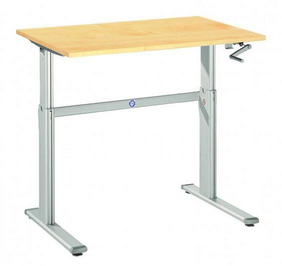 mit Kurbelantrieb höhenverstellbarer Schreibtisch und Steharbeitstisch