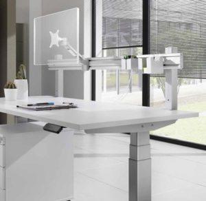 Schreibtisch-Befestigungsleiste mit schwenkbarer Monitorhalterung