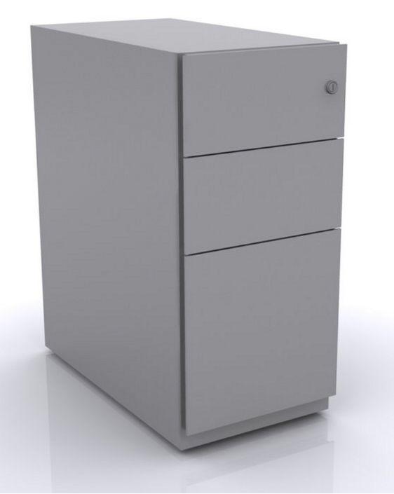 höhenverstellbarer Schreibtisch-Metallcontainer abschließbar