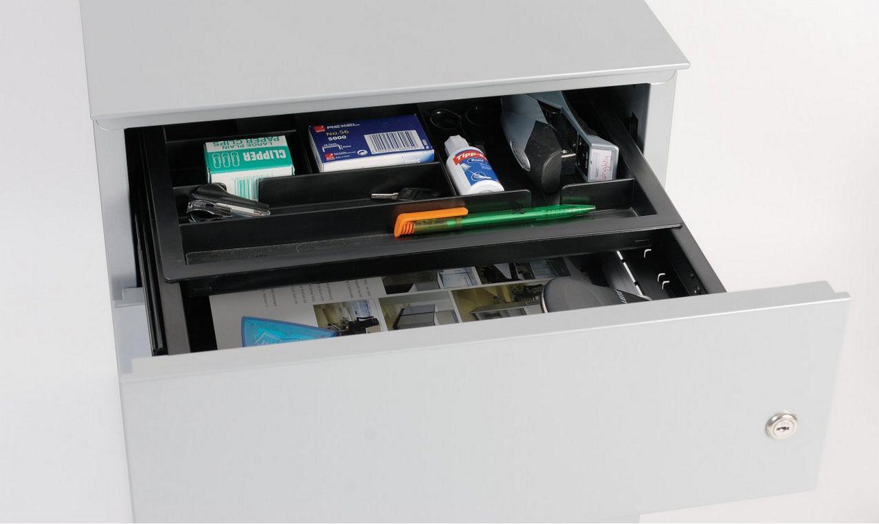 Schreibtisch-Schubladenmetallschrank