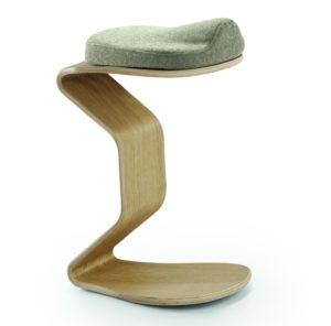 leicht federnder Jugendliche-Schreibtisch-Sitzhocker mit Polstersitz