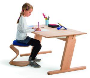 Kinder-Schreibtischhocker rückenschonend gepolstert