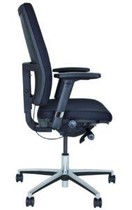 Schreibtischstuhl mit höhen-, breiten- und tiefenverstellbaren Armlehnen