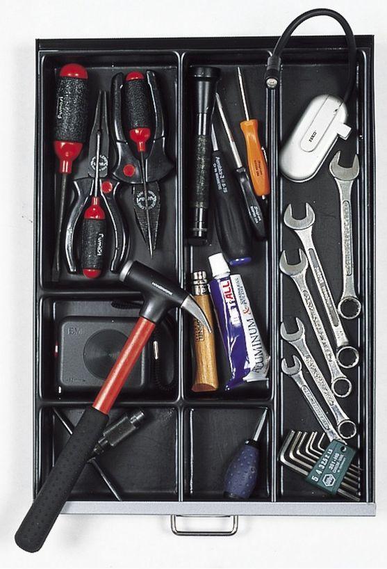 Werkzeugfächer für Schubladenstahlschrank