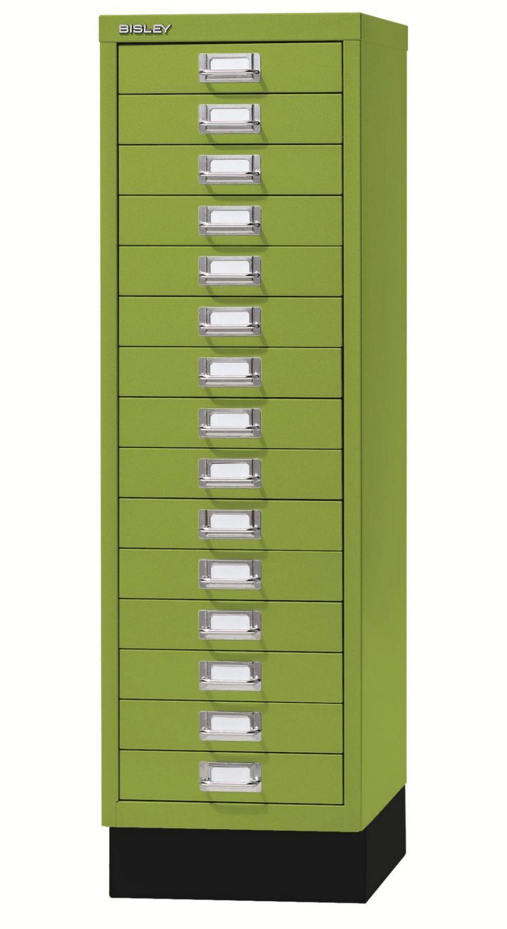 grüner Büro-15 SchubladenStahlschrank