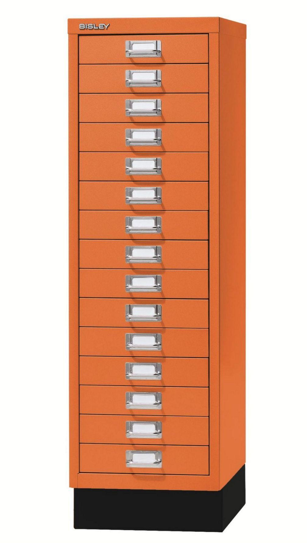 orangener Büro-15 Schubladen-Stahlschrank