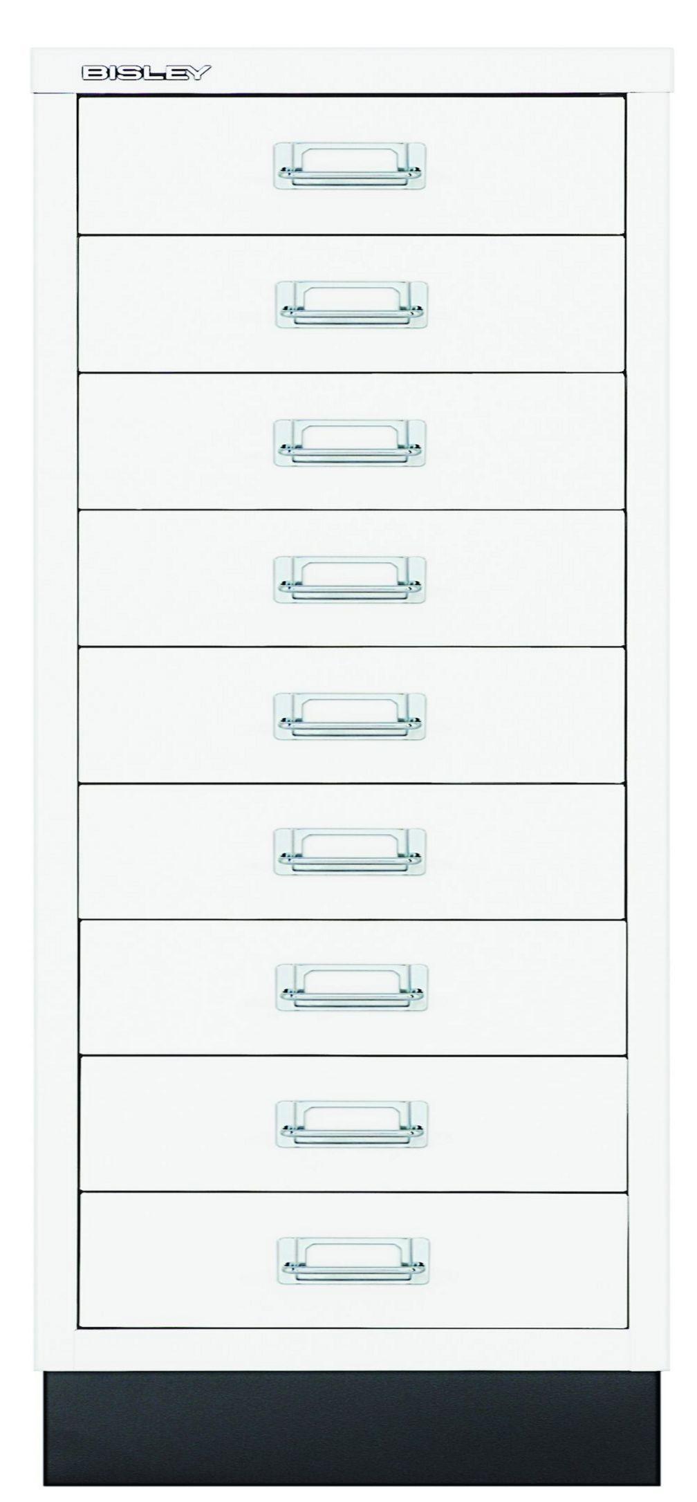 weißer Büro-Schubladen-Metallschrank 9 Schubladen