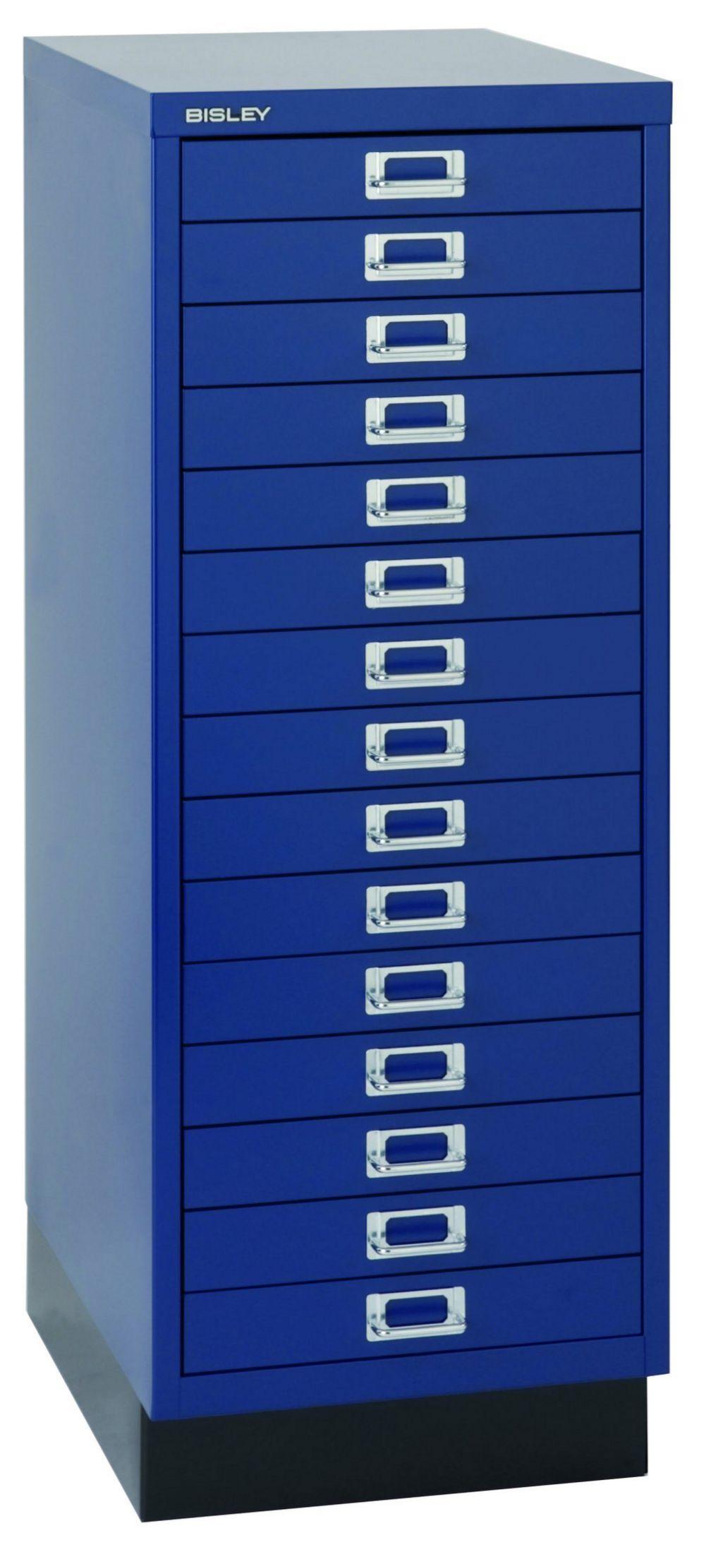 Büro-Schubladen-Metallschrank blau 9 Schubladen