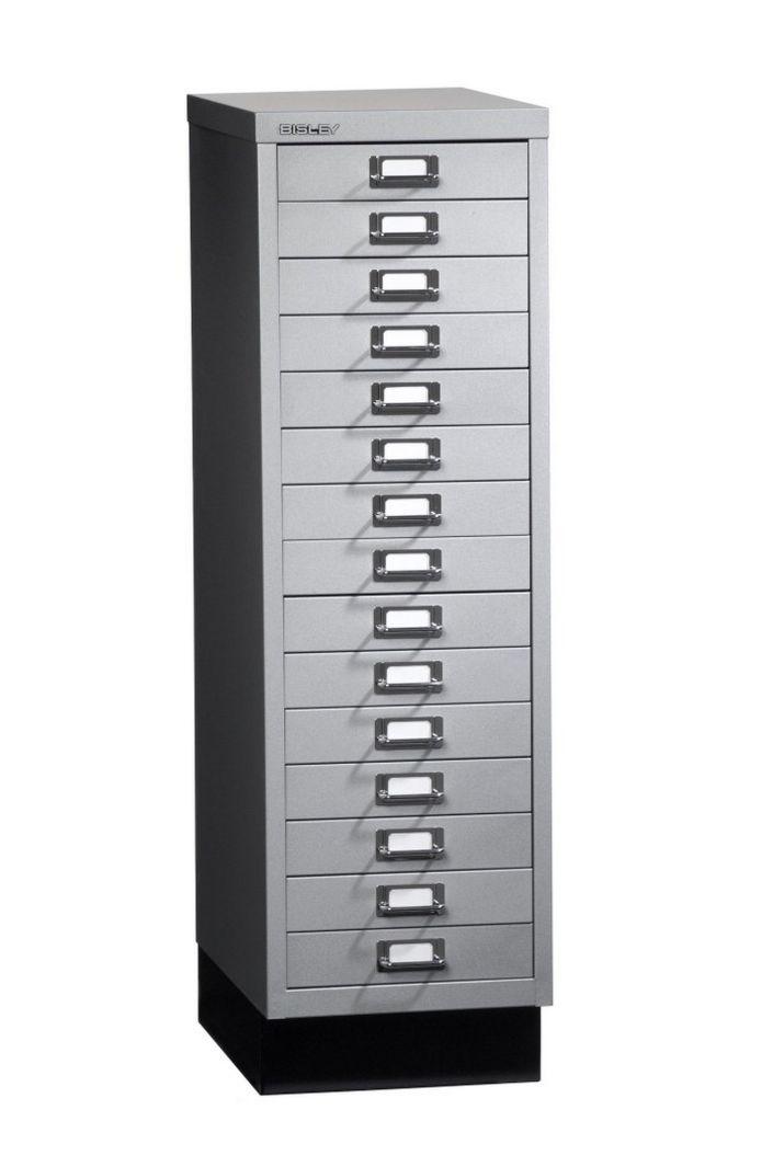 Büro-15 Schubladen-Stahlschrank silber