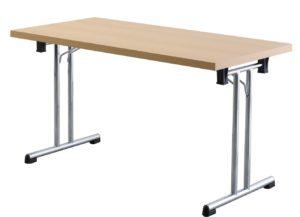 zusammenklappbarer Tisch für Seminare (Breite x Tiefe: 138 x 69 cm)