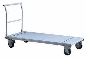 stabiler Transportwagen für zusammenklappbare und platzsparend lagerbare Seminartische