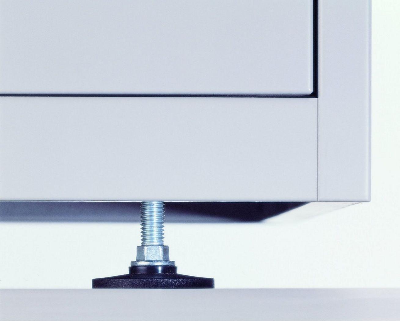 Bürostahlschrank mit höhenverstellbaren Stellfüßen