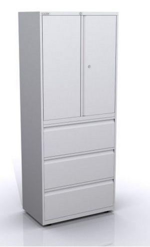 Kombi-Stahlschrank mit Schubladen und Türen