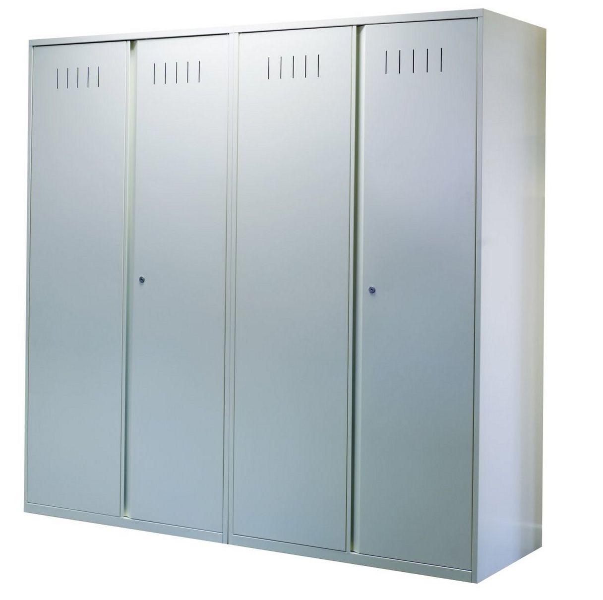 Garderoben-Stahlschrank Lüftungsschlitzen