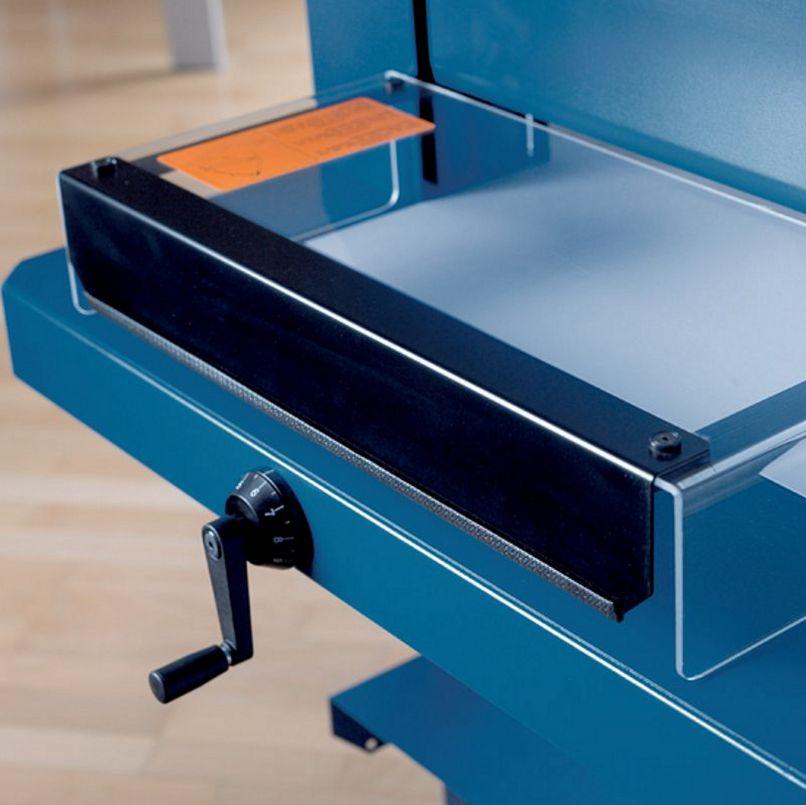 sichere Papierstapel-Schneidemaschine transparenter Messerschutzhaube