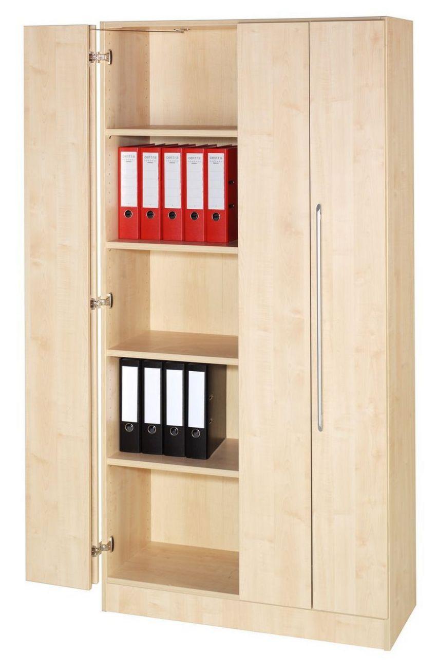 Faltüren-Büroschrank Ahorn-Holzdekor