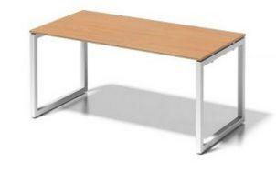 robuster Stahlgestell-Schreibtisch