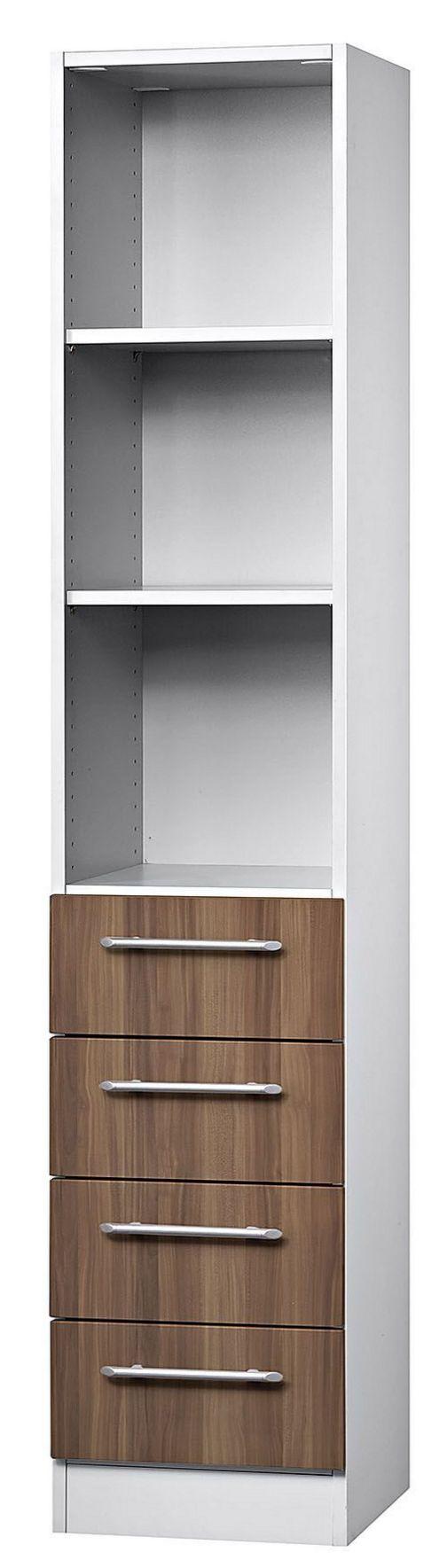 halboffener Büro-Schubladenschrank 4 Schubladen