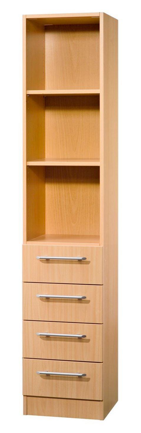 halboffener Büro-Schubladenschrank Buche