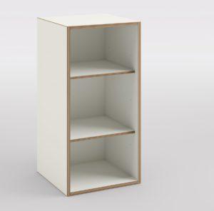 vertikal horizontal stapelbares Büro-Regalfach mit 3 offenen Regalfächer