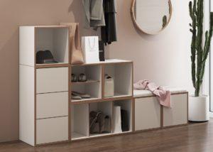 Garderoben-Regalschrank