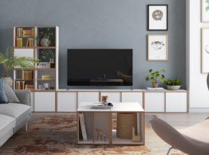 modernes Wohnzimmer-TV-Board
