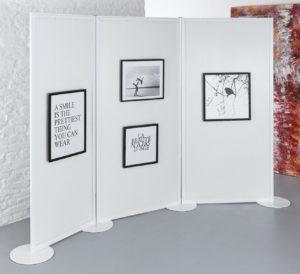 Galerie-Stellwand zum Aufhängen von Bilderrahmen