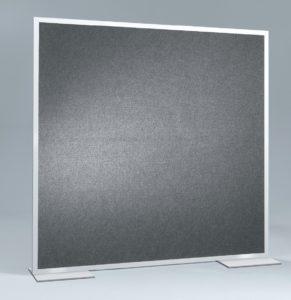 Pinboard-Stellwand mit Klettbezug für Pin-Nadeln