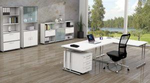 preiswerte und moderne Büroschränke mit Winkelschreibtisch