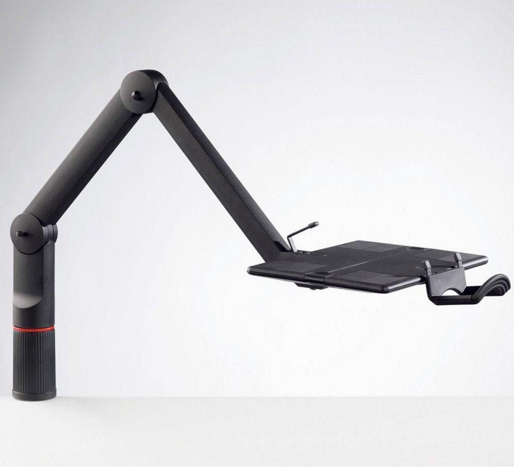 zweigelenkiger Telefon-Faltarm stabile Schreibtischmontage