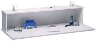 Büro-Schreibtisch mit Thekenaufsatz
