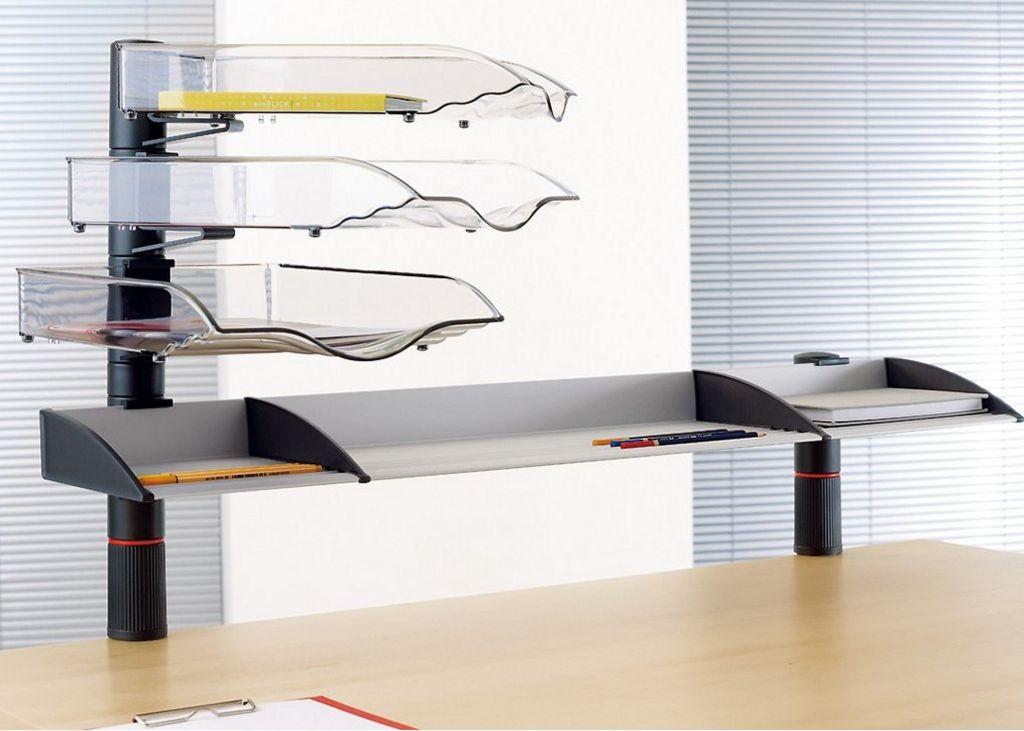 Schreibtischordnung mit Ablagefächer zur Tischmontage
