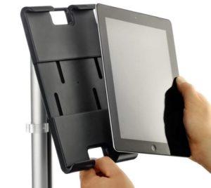 Tablet-Schreibtischhalterung Hochformat