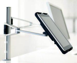 frei drehbare und höhenverstellbare Monitor-Tablet-Tischhalterung