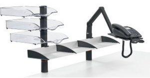 Schreibtischordnung Telefon-Tragarm Ablagefächern Tischmontage
