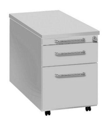 abschließbarer Schreibtisch-Rollcontainer mit Hängeregisterschublade
