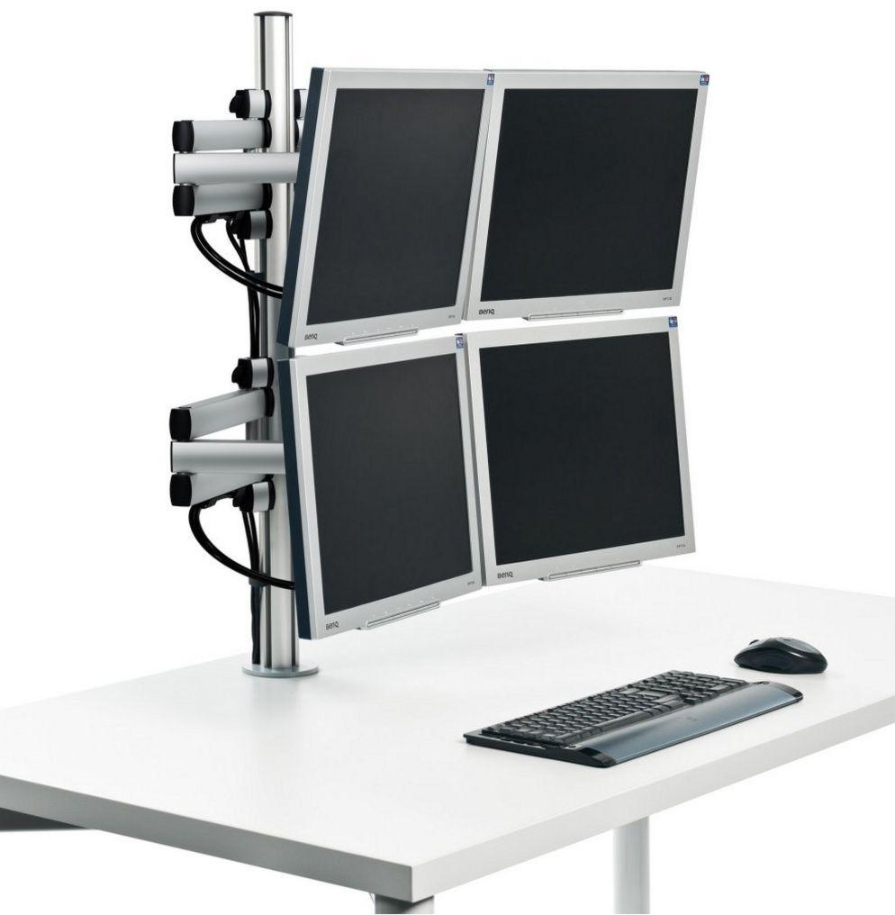 Monitor-Tischhalterung für 4 Computermonitore