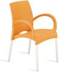 stapelbarer Stuhl mit Armlehne