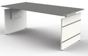 höhenverstellbarer Wangen-Schreibtisch (180 x 80 cm) mit grafitfarbener Tischplatte