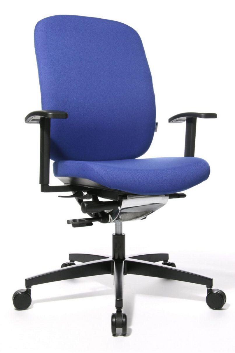 rückenschonender-Schreibtischstuhl Stuhlbezug blau