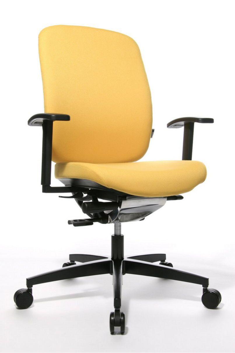 rückenschonender-Schreibtischstuhl Sitzbezug gelb