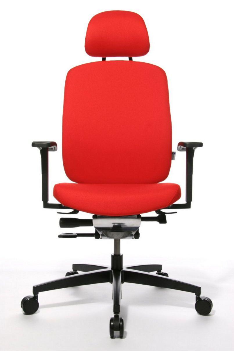 rückenschonender-Schreibtischstuhl Stuhlbezug orange