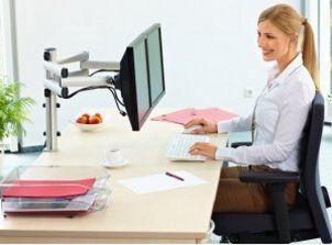 Monitor-Schreibtischhalterung für 2 Monitore