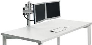 zweifache Monitor-Schreibtischhalterung 2 Computermonitore