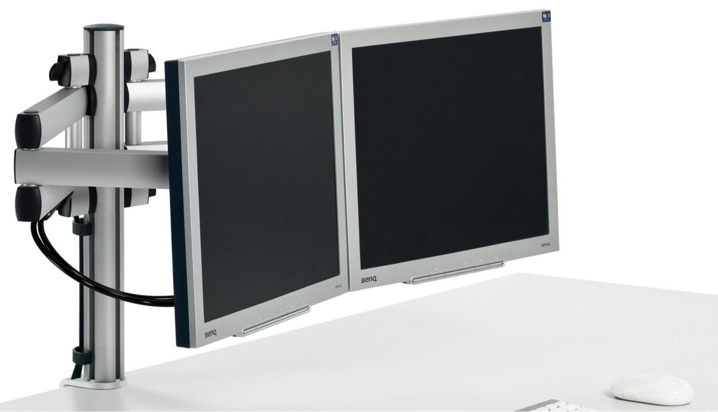 mehrgelenkige Monitorhalterung für 2 Computermonitore